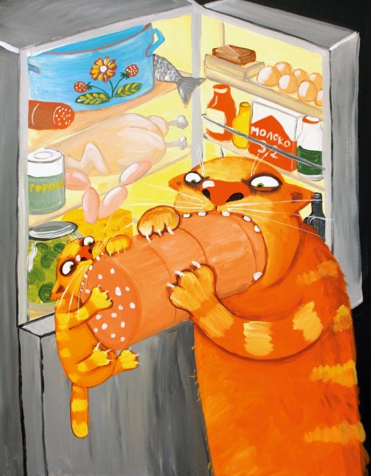 Картинки с колбасой прикольные